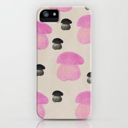 Mushroom pink iPhone Case