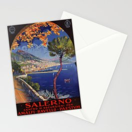 Salerno Italy vintage summer travel ad Stationery Cards