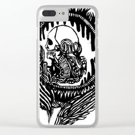 In Hell, We Trust Clear iPhone Case