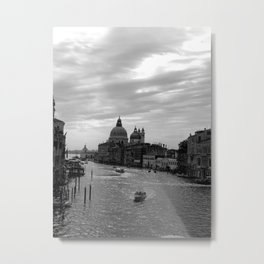 Venice Grand canal in black and white Metal Print