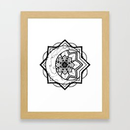 Mandala Moon Framed Art Print