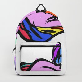 Sleepy Unicorn graphic for Girls Hand Drawn Graphic design Backpack