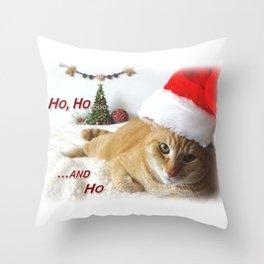 Ho, Ho ... and Ho Throw Pillow