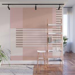 Marfa Abstract Geometric Print in Pink Wall Mural
