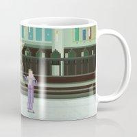 hogwarts Mugs featuring Hogwarts by FuliFuli