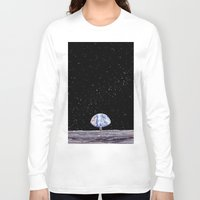 neil gaiman Long Sleeve T-shirts featuring Neil Armstrong by Enrico Barin Guarise
