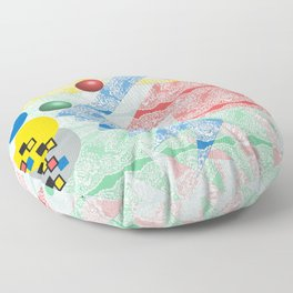 Abstract Lace Floor Pillow