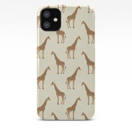Giraffe animal minimal modern pattern basic home dorm decor nursery safari patterns iPhone Case