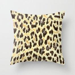 Pattern Taches Léopard Beige Throw Pillow