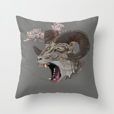 Wolf in Sheep's clothing. Throw Pillow