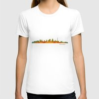 kansas city T-shirts featuring Kansas City Skyline Hq v1 by HQPhoto