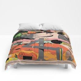 Modern Pizza Bird House Comforters