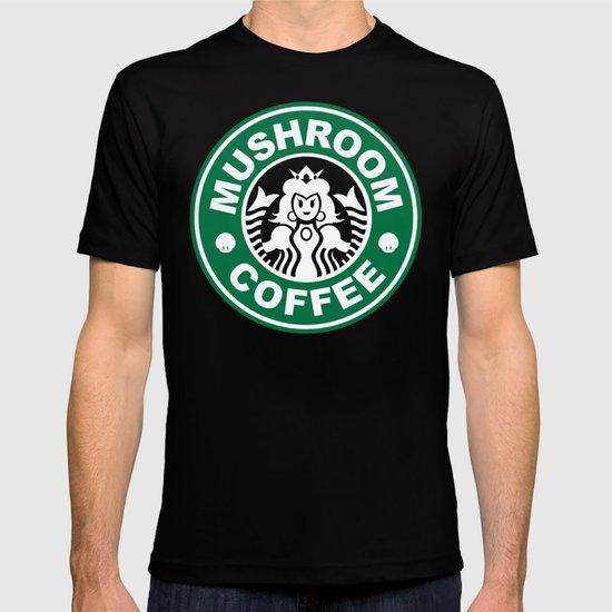 Super Mario's Mushroom Coffee T-shirt