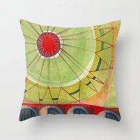 carnival Throw Pillows featuring Carnival by angela deal meanix