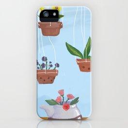 Flower pot power {Spring} iPhone Case