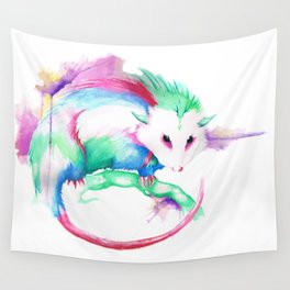 Watercolor Opossum by Calder Brown Wall Tapestry