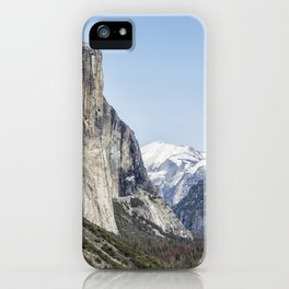 El Capitan, Half Dome and Sentinel Rock from Tunnel View iPhone Case