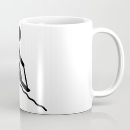 Snowsled Stickfigure Coffee Mug