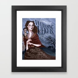 Wuthering Heights poster Framed Art Print