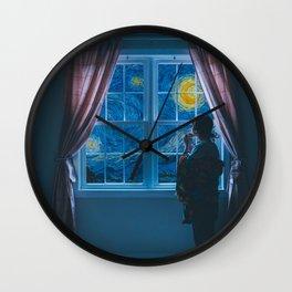 hello moon Wall Clock