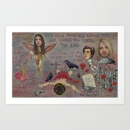 Nirvana - Light My Candles In A Daze Cause My Heart Shaped Box Is Broke Art Print