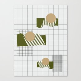 Checks Lines Grid Canvas Print