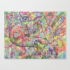 Basura Cerebro Canvas Print