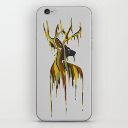 Painted Stag iPhone Skin