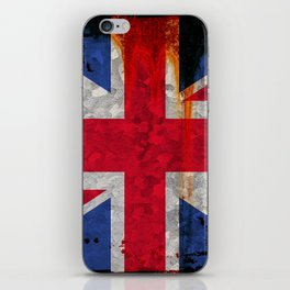 Paint splattered Union flag iPhone Skin