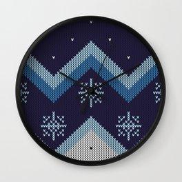 blue knit Wall Clock