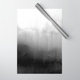 Modern Black and White Watercolor Gradient Wrapping Paper