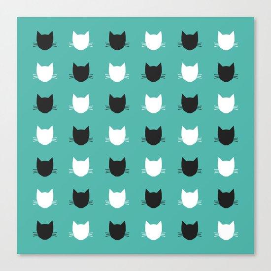 Cat Pattern 03 Canvas Print