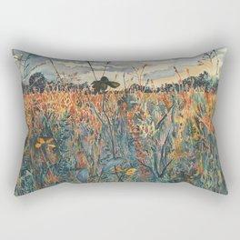 Wildflowers in Velvet Rectangular Pillow