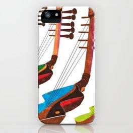Mangbetu Harp iPhone Case