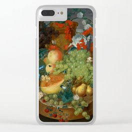 """Jan van Os  """"Fruit still life with a mouse on a ledge"""" Clear iPhone Case"""