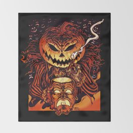 Halloween Pumpkin King (Lord O' Lanterns) Throw Blanket