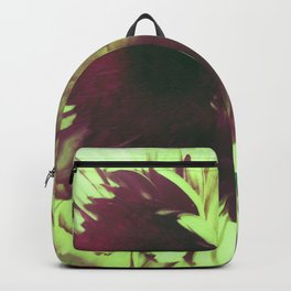Green Glowing Flowers Backpack