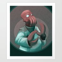 zoidberg Art Prints featuring Dr. Zoidberg by Dojo
