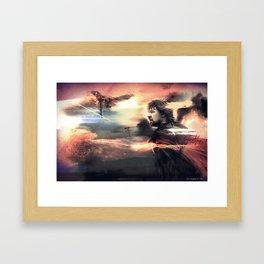 Look to the Stars - Man of Steel Framed Art Print
