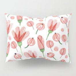 Red flowers Nature Pillow Sham