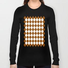Diamonds (Brown/White) Long Sleeve T-shirt