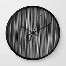 Ambient #6 in Grayscale Wall Clock