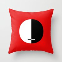 justice Throw Pillows featuring THE JUSTICE by THE USUAL DESIGNERS