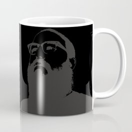 Beardlyman Face on Black Coffee Mug