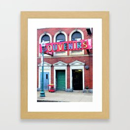 Retro Carnival in the City Framed Art Print