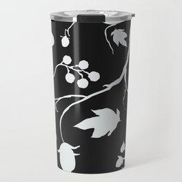 Floral Seamless Pattern. Hand Drawn Creative Sprays with berries Travel Mug