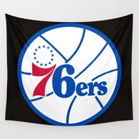 nba Wall Tapestries featuring NBA - 76ers by Katieb1013