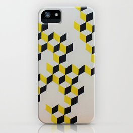 incomplete cubes - white iPhone Case