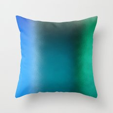 Abstract Square - Blue Green Throw Pillow