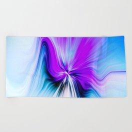 Abstract Moving Butterfly Design Beach Towel